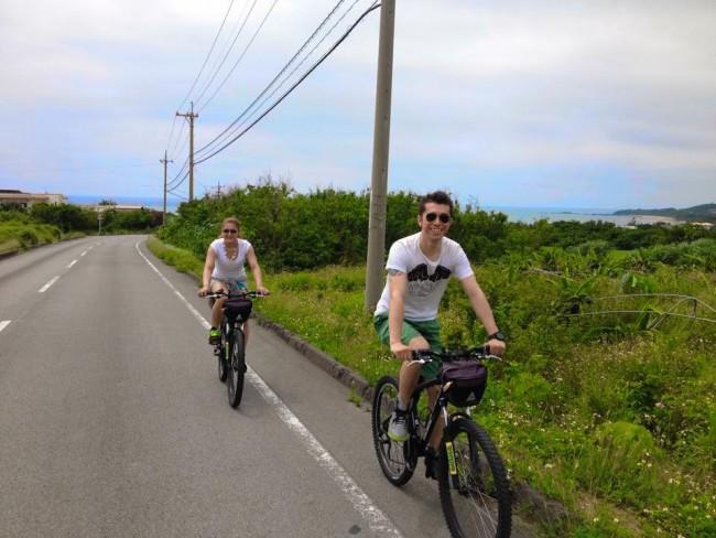 ②出発!オンロード5km、オフロード5km、サイクリングスタート!