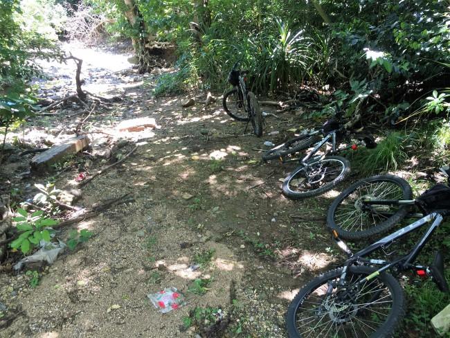 ③自転車を止めて秘密の浜へ